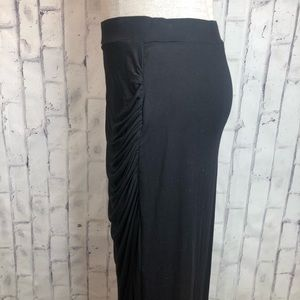 Worthington Skirts - Black cinch gathered maxi skirt medium